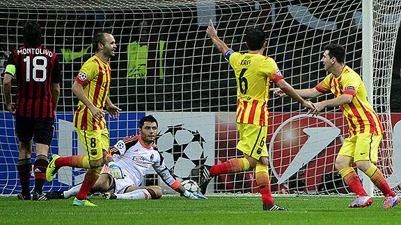 Messi salva al Barcelona